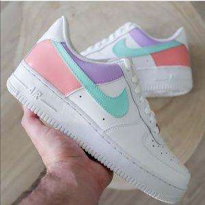 Rare Nike Pastel Air Force 1 Custom